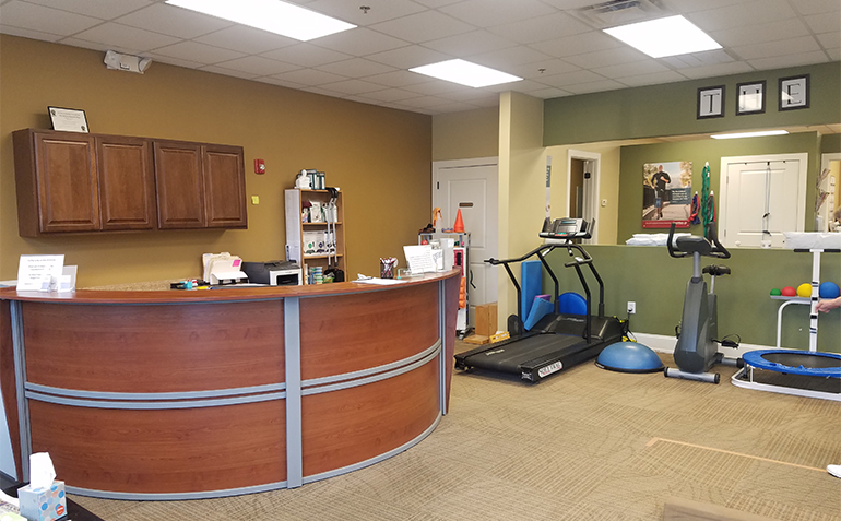 BenchMark Physical Therapy in Chelsea, AL Reception Desk