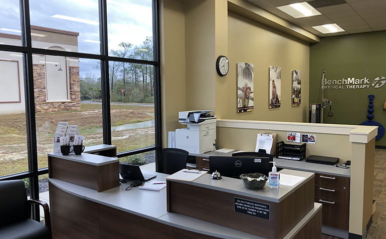 BenchMark Physical Therapy in Ocean Springs, MS Reception Area